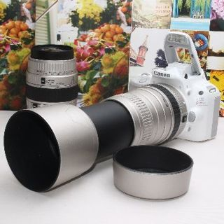 Canon - ❤️迫力満点の超望遠❤️キヤノン Kiss X7 ダブルズームキット❤️