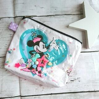 Disney - ハンドメイド ビンテージシーツ ミニーちゃん ポーチ シャカシャカポーチ