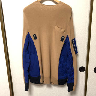 sacai - sacai 19ss switched pullover knit