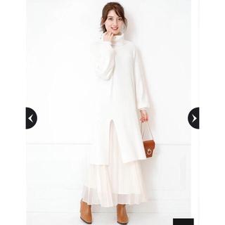 Rirandture - 新品未使用♪ Rirandture スリットニットワンピース×プリーツスカート