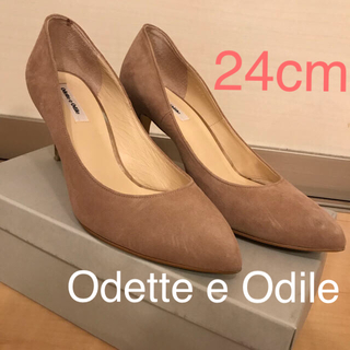 Odette e Odile - 美品 Odette e Odile 24cm スエード ベージュ パンプス