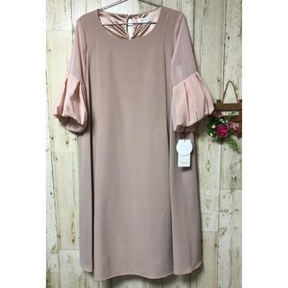 ✧新品✧M ピンク シースルー 授乳服 マタニティワンピース フォーマル