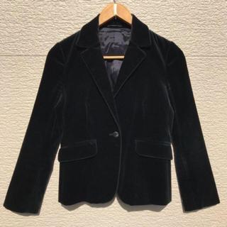 ユナイテッドアローズ(UNITED ARROWS)のユナイテッドアローズ ジャケット ベロア レディース 黒 ブラック 36(テーラードジャケット)