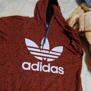 adidas - adidas アディダス パーカー ブラウンXXL