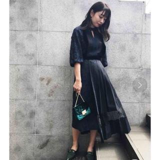 Ameri VINTAGE - 新品タグ付き PLEATS DOCKING LACE DRESS