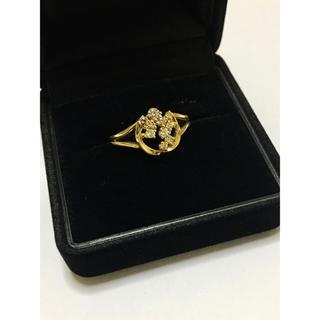 H.P.FRANCE - フェスタリア ビジュソフィア シャンパーニュコレクション ダイヤリング k18