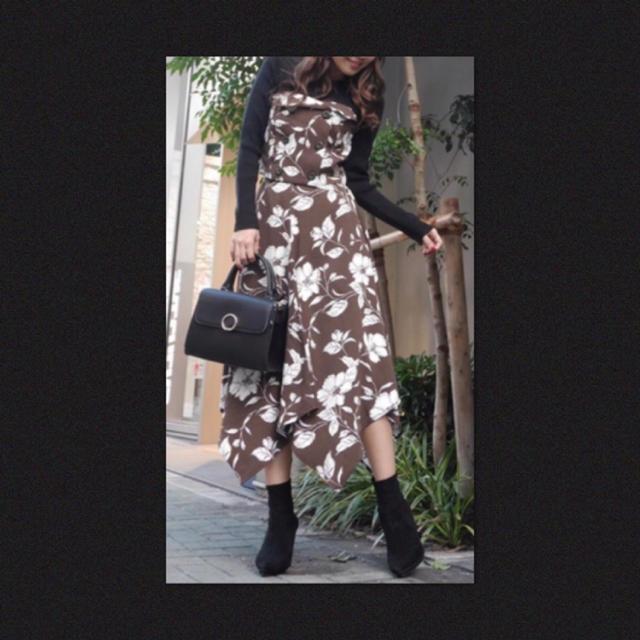 rienda(リエンダ)の値下げ❗️✨rienda ビスチェ アシンメトリー 花柄 スカート セットアップ レディースのレディース その他(セット/コーデ)の商品写真