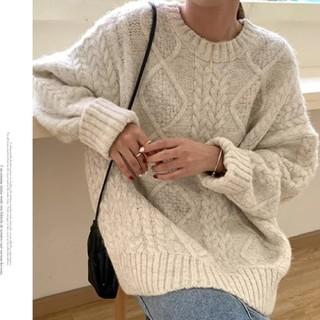 dholic - ツイスト編み シンプルニット セーター