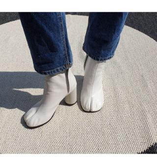 Maison Martin Margiela - マルジェラ風 足袋ブーツ ホワイト