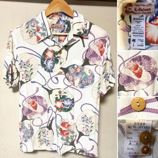 Kaluluwa - 美品❗️kaluluwa 半袖 和柄 アロハシャツ 金魚 あじさい 花柄 うちわ
