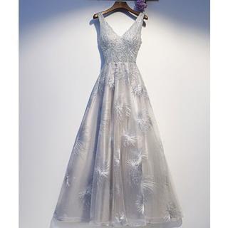 パーティードレス フォーマル 結婚式 二次会 女子会 お呼ばれ S~XL(ロングドレス)