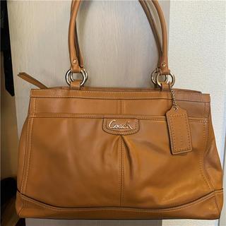 COACH - 未使用に近い COACH 約5.5万円 フルグレインレザーバッグ