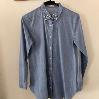 ジーユー(GU)のシャツ ビーズ襟 GU(シャツ/ブラウス(長袖/七分))