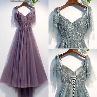 パーティードレス フォーマル 結婚式 二次会 女子会 お呼ばれ S~XXXL(ロングドレス)