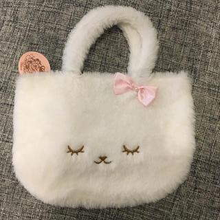 motherways - マザウェイズ モコモコ バッグ 眠り猫