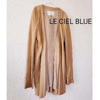 ルシェルブルー(LE CIEL BLEU)のLE CIEL BLEU アウター 山羊本革(ノーカラージャケット)