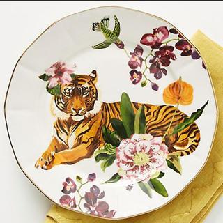 アンソロポロジー(Anthropologie)のアンソロポロジー ナタリーレテ サイドプレート ケーキ皿 食器 タイガー(食器)