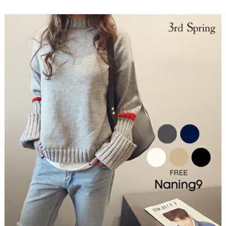 dholic - ナンニング9  NANING9リブ編みポイントセーター