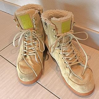 プーマ(PUMA)のプーマ 靴 ファーストラウンドブーツ ボアブーツ 23.0 (ブーツ)
