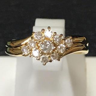 ダイヤモンドリング k18 値下げ交渉可 天然ダイヤ 新品未使用 即日発送