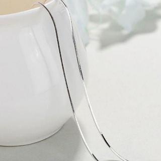 トレンド スネークチェーン ネックレス シルバー 40cm(ネックレス)