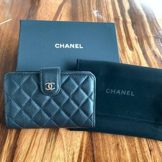 CHANEL - ⭐️美品⭐️CHANEL シャネル ラムスキン マトラッセ  二つ折り 財布