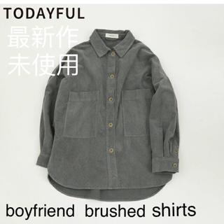 TODAYFUL - 未使用・boyfriend brushed shirt