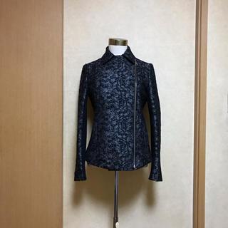 ダブルスタンダードクロージング(DOUBLE STANDARD CLOTHING)のDOUBLE STANDARD❃︎ジャガード ジャケット(ライダースジャケット)