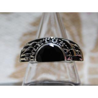 ジャムホームメイドアンドレディメイド(JAM HOME MADE & ready made)の極美品 JAM HOME MADE ハーフカレッジリング 15号 オニキス ⑦(リング(指輪))