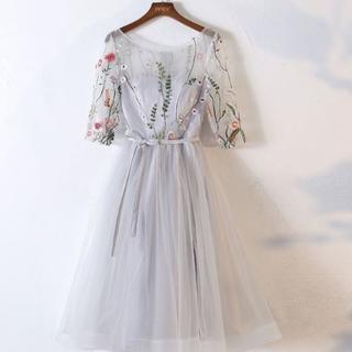 パーティードレス フォーマル 結婚式 二次会 女子会 お呼ばれ S~XXL(ミディアムドレス)
