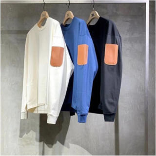 SUNSEA - SUNSEA 19ss FAT LONG Tee    OCEAN
