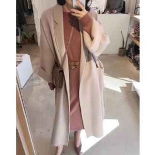 ディーホリック(dholic)の♡ pink beige long coat ♡(ロングコート)