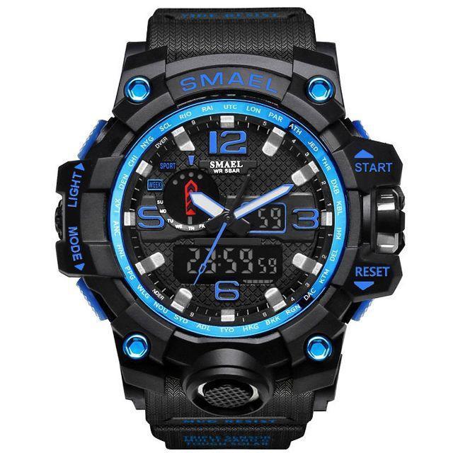 SMAEL オシャレ アナデジ 腕時計 メンズ 男性 アラーム クロノグラフ 多の通販