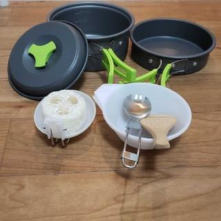 【新品】超軽量キャンプクッカー食器調理器具6点セット
