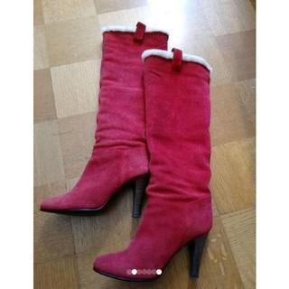 ダイアナ(DIANA)の美品DIANAスエード本革ロングブーツ(ブーツ)