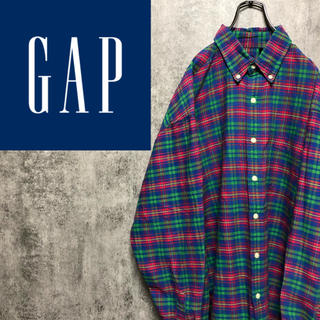 GAP - 【激レア】オールドギャップGAP☆ポケット付きレトロチェックシャツ 90s