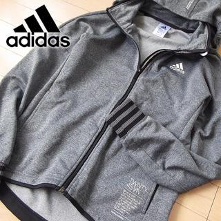 adidas - 超美品 M アディダス  レディース パーカージャケット/ジャージ グレー
