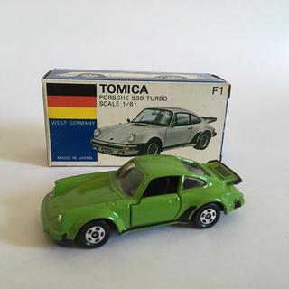 Takara Tomy - トミカ ポルシェ930ターボ F1 日本製 青箱 グリーン 輸出仕様 美品