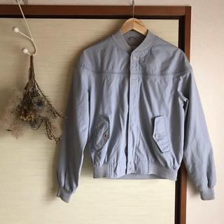 トゥデイフル(TODAYFUL)の古着屋購入 used vintage ブルゾン 水色 くすみ色 男女兼用(ブルゾン)