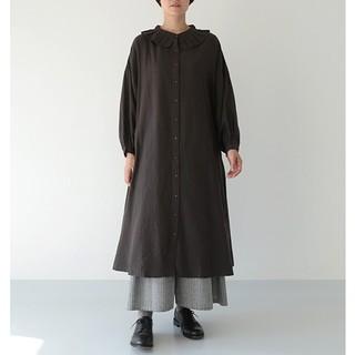merlot - 今季新作*フィリル プリーツ襟ナチュラルワンピース