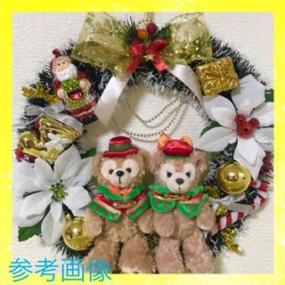 Disney - ダッフィー シェリーメイ & ホワイトゴールド クリスマスリース セット★