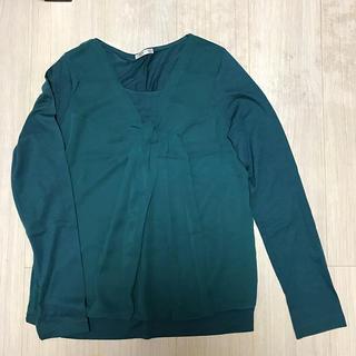 シャツ 長袖 緑 グリーン おしゃれ(シャツ/ブラウス(長袖/七分))