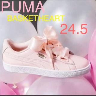 プーマ(PUMA)の★新品★PUMAプーマ バスケットハートパテント ピンク24.5(スニーカー)