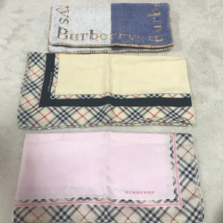 BURBERRY - バーバリー ハンカチ 2枚 ハンドタオル1枚