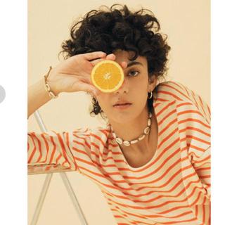 シールームリン(SeaRoomlynn)のsearoomlynn ビタミンカラーボーダートップス オレンジ(カットソー(長袖/七分))