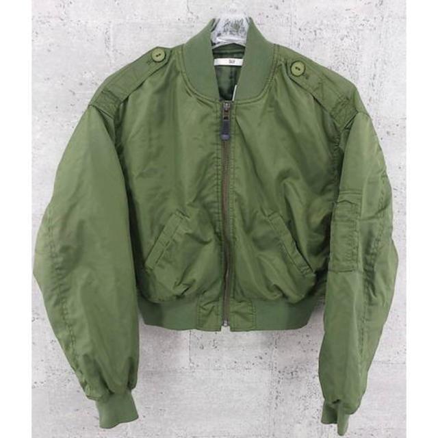SLY(スライ)のSLY スライ ジップアップ 中綿 ジャケット長袖 MA-1 FREE カーキ  レディースのジャケット/アウター(ブルゾン)の商品写真