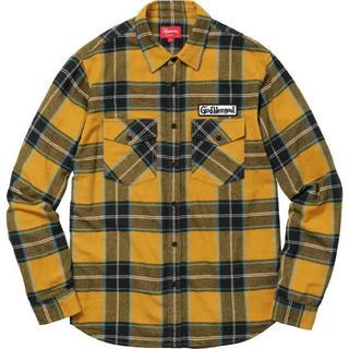 Supreme - Supreme Flannel shirt yellow ネルシャツ