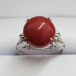 うる艶♡プラチナサンゴリング(リング(指輪))