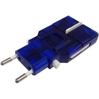 カシムラ(Kashimura)のカシムラ 海外用変換プラグ サスケ/ブルー NTI-13(変圧器/アダプター)