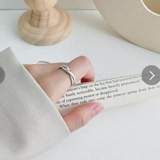 2019新作】リング《シルバー925 ツイストデザインオープンリング指輪 (リング(指輪))